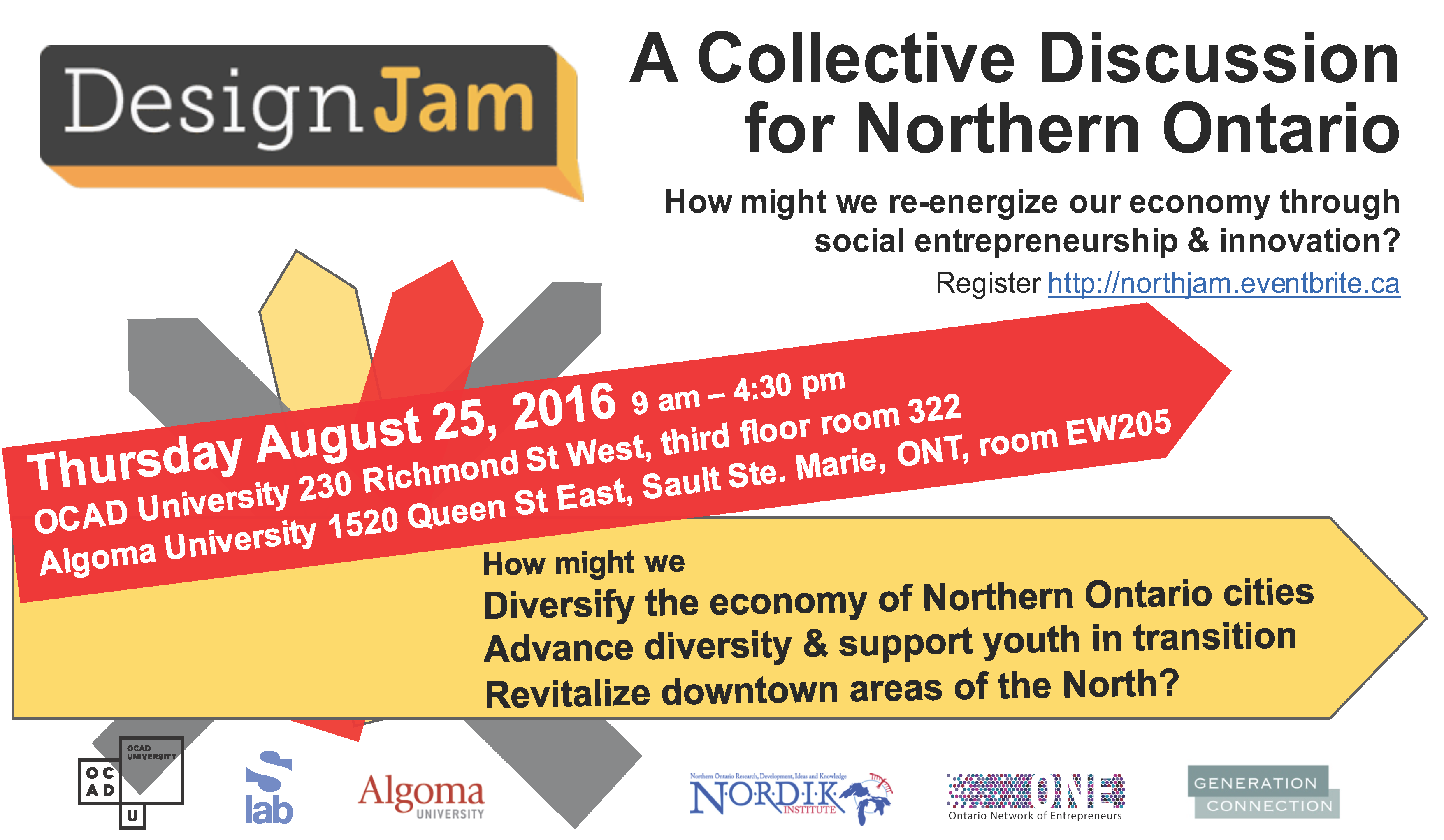 DesignJam: A Collective Discussion for Northern Ontario banner