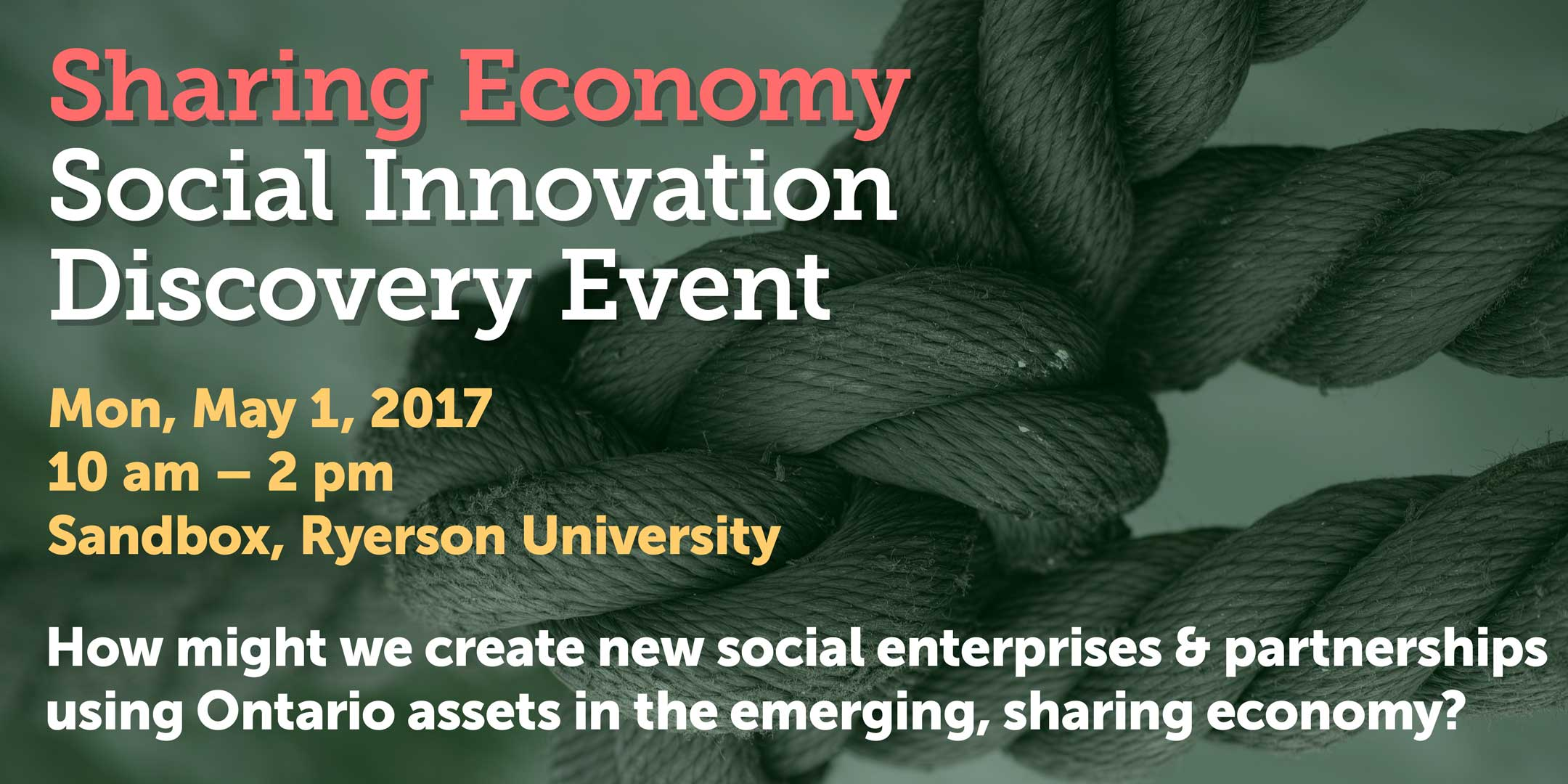 Sharing Economy Social Innovation Discovery Event