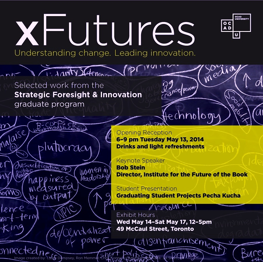 xFutures invitation (blackboard image with drivers of change)